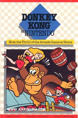 Donkey Kong - Atari 2700 cover