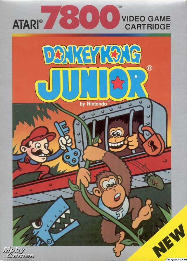 Donkey Kong Junior - Atari 7800 cover