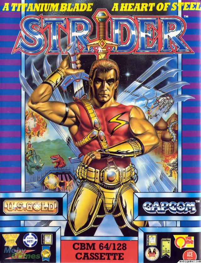 Strider - Commodore 64 cover