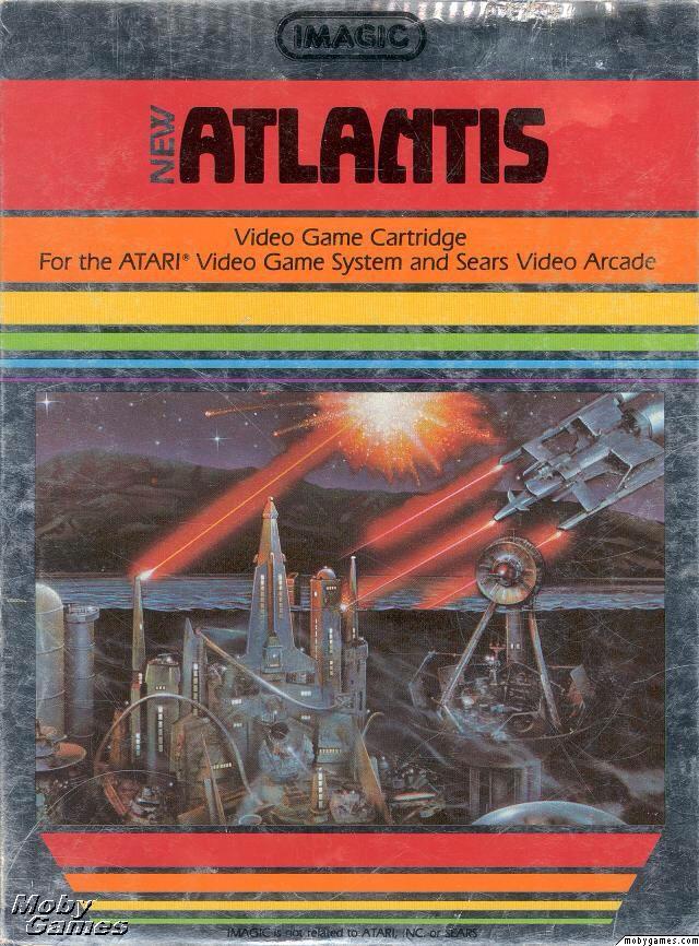 Atlantis  - Atari 2700 cover