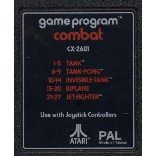 Combat - Atari 2600 cover