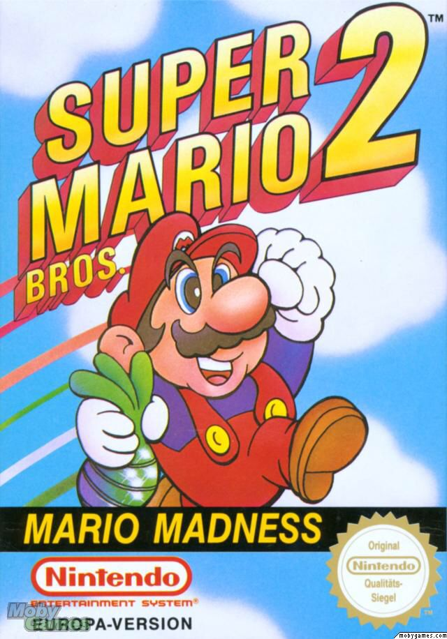 Super Mario Brothers 2 - NES cover