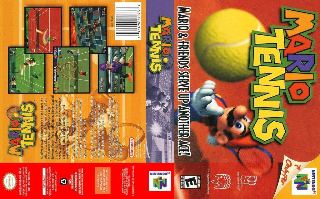 Mario Power Tennis - Nintendo 64 cover