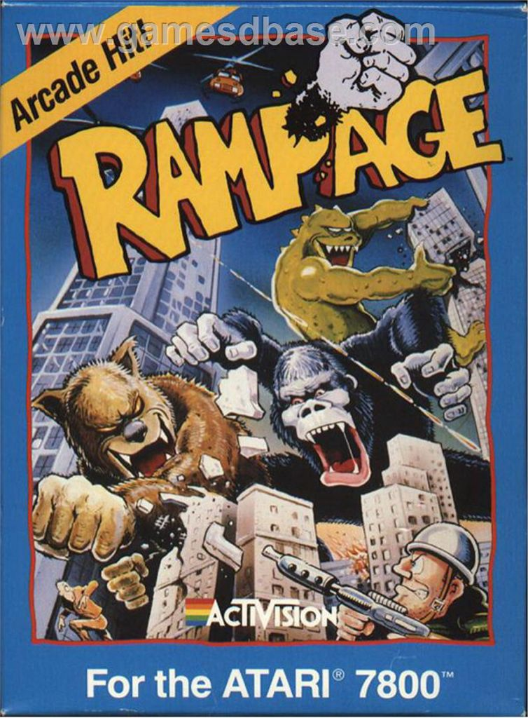 Rampage - Atari 7800 cover