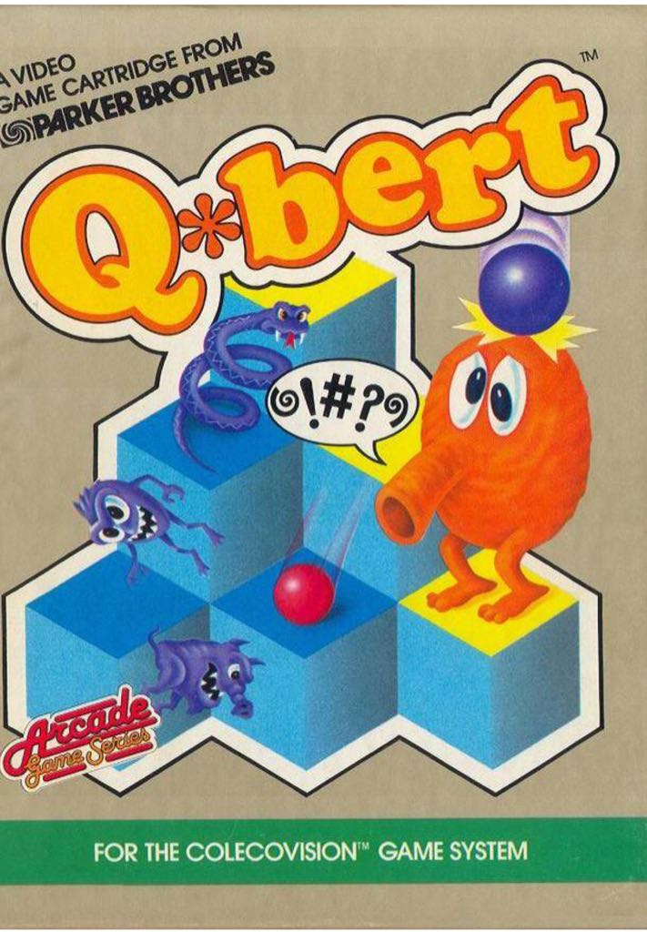 Qbert - Colecovision cover