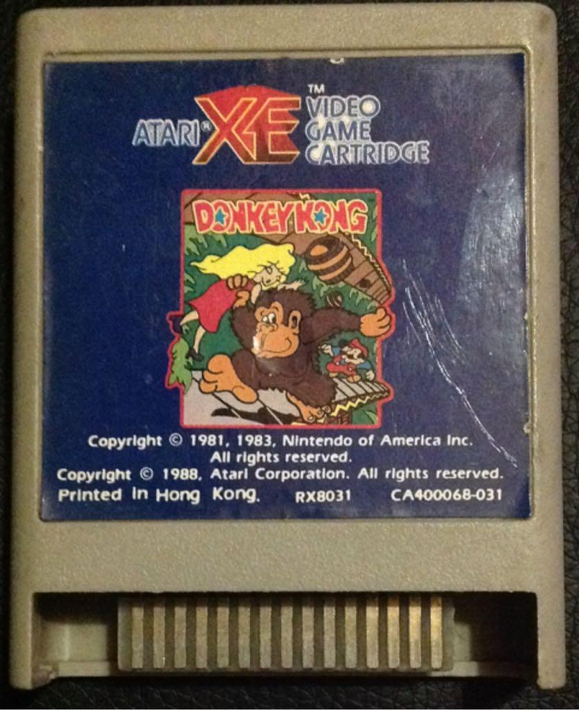 Donkey Kong - Atari XEGS cover