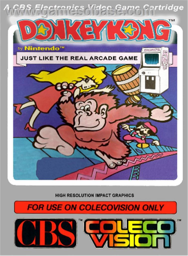 Donkey Kong - Colecovision cover