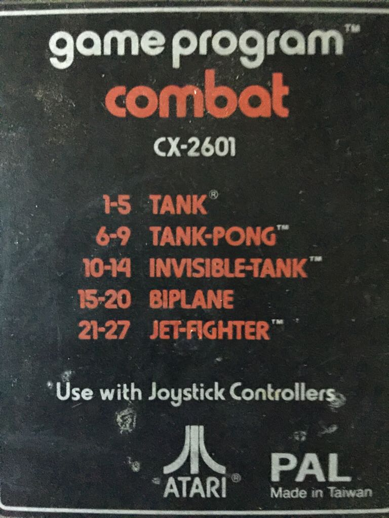 Combat - Atari 2600 Jr. cover