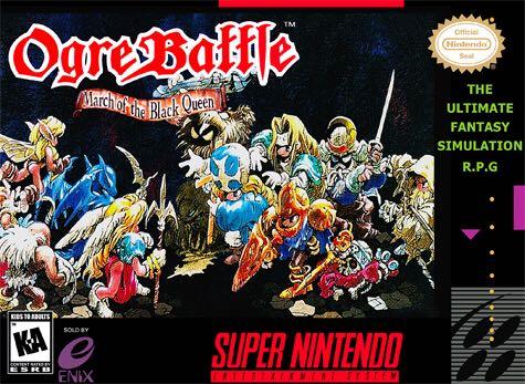 Ogre Battle - Super NES cover