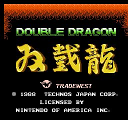 Double Dragon - Wii U Virtual Console cover