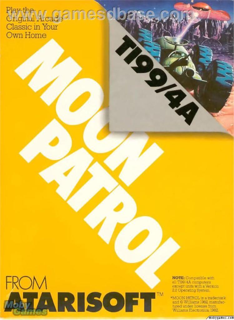 Moon Patrol - Texas Instruments TI-99 cover