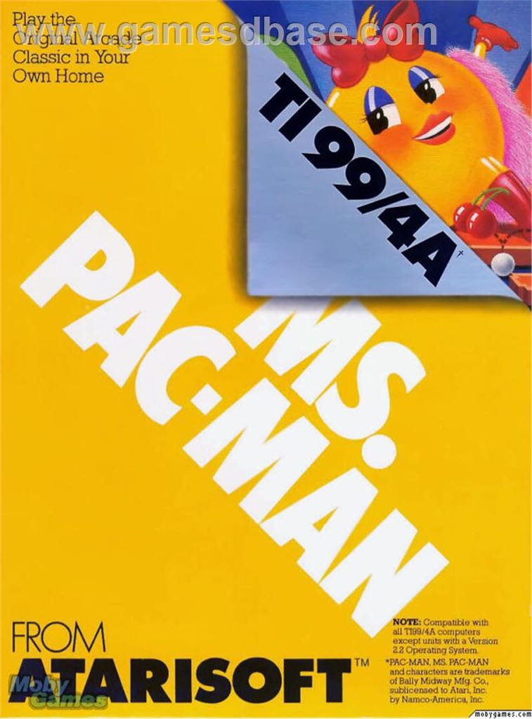 Ms. Pac-Man - Texas Instruments TI-99 cover