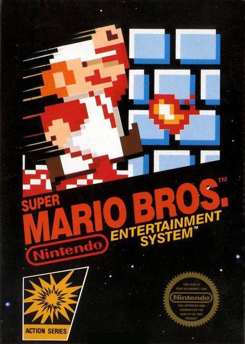 Super Mario Bross - NES cover