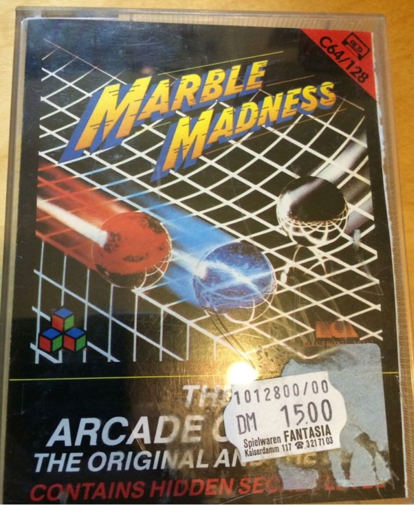 Marble Madness - Commodore 64 cover