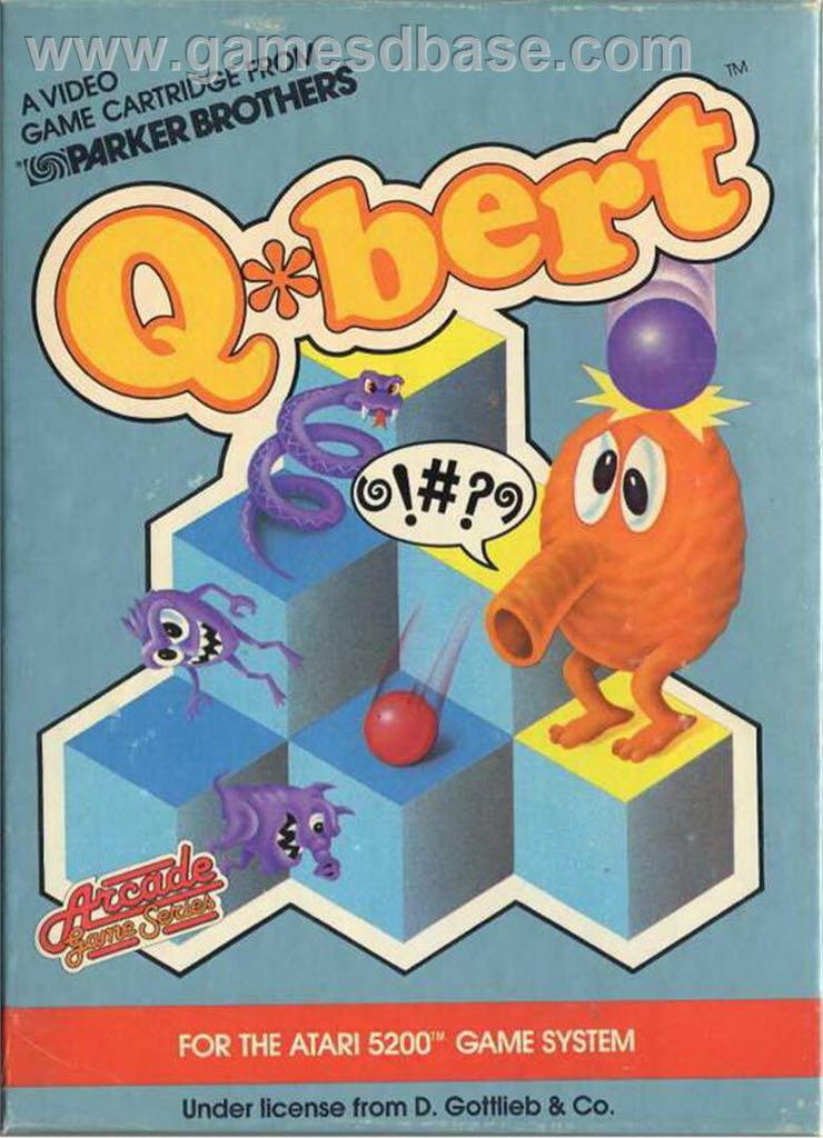 Q*bert - Atari 2800 cover