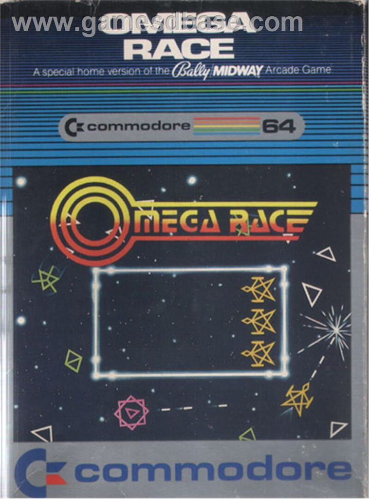 Omega Race - Commodore 64 cover