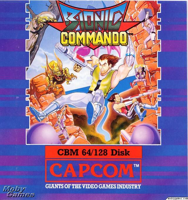 Bionic Commando - Commodore 64 cover
