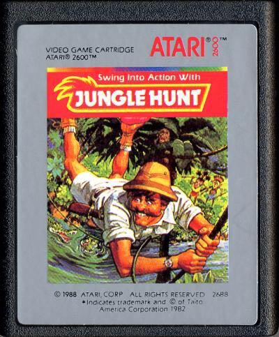 Jungle Hunt - Atari 2600 Jr. cover