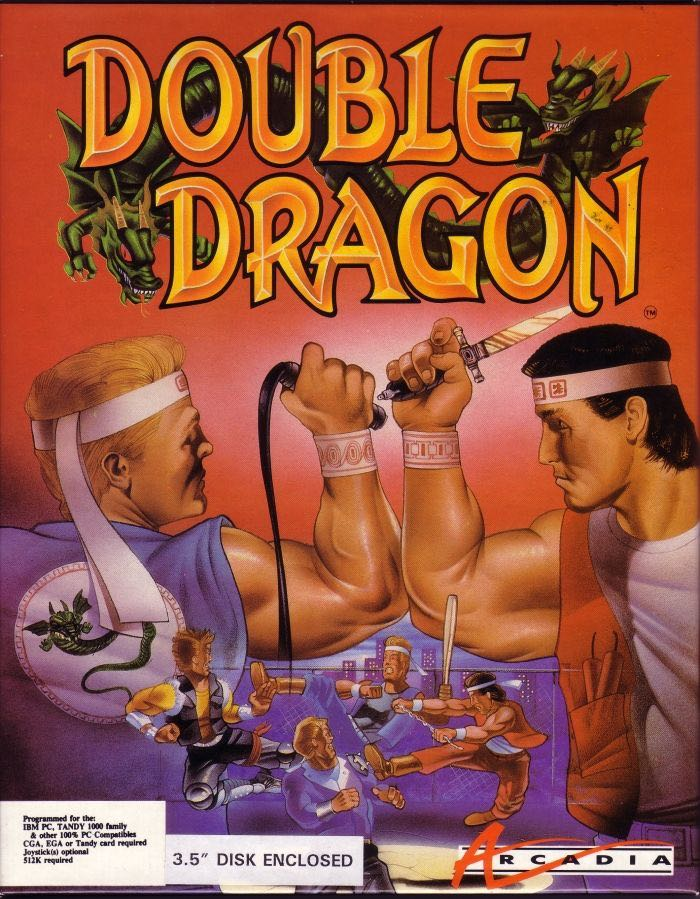 Double Dragon - Atari 2600 cover