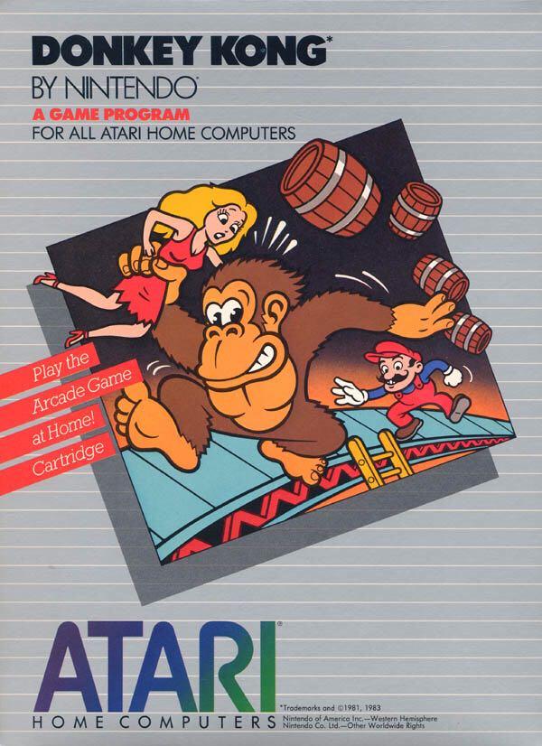 Donkey Kong - Atari 400 cover