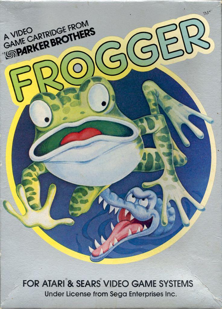 Frogger - Atari 400 cover