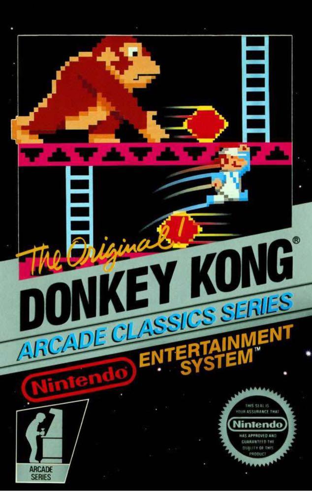 Donkey Kong - NES cover