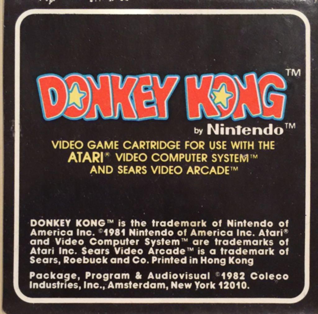 Donkey Kong - Atari 2600 cover