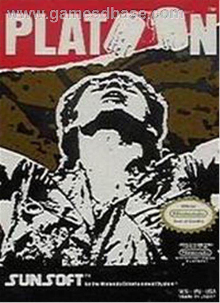 Platoon - NES cover