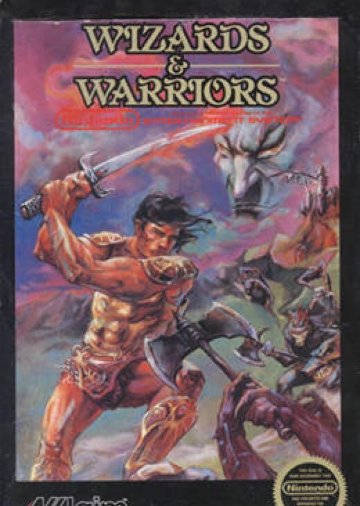 Wizards & Warriors - NES cover