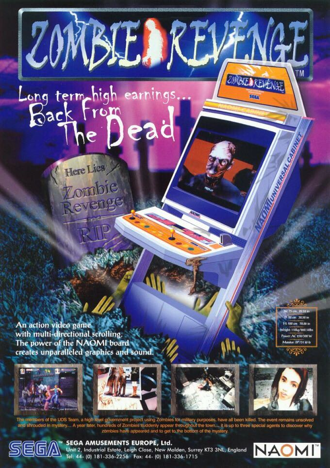 Zombie Revenge - Arcade cover