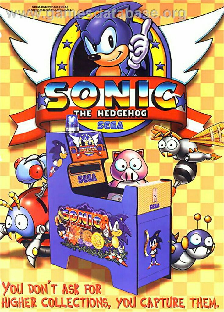 Sonic The Hedgehog - Arcade cover