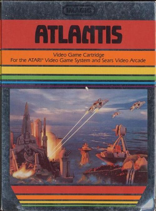 Atlantis  - Atari 2600 Jr. cover