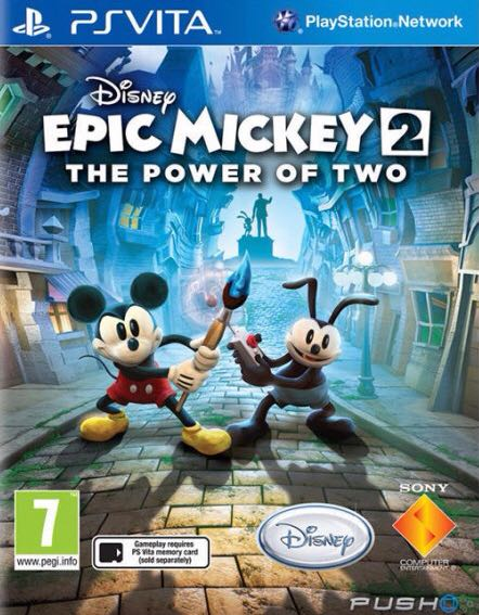 Disney Epic Mickey 2: The Power Of Two - PS Vita cover