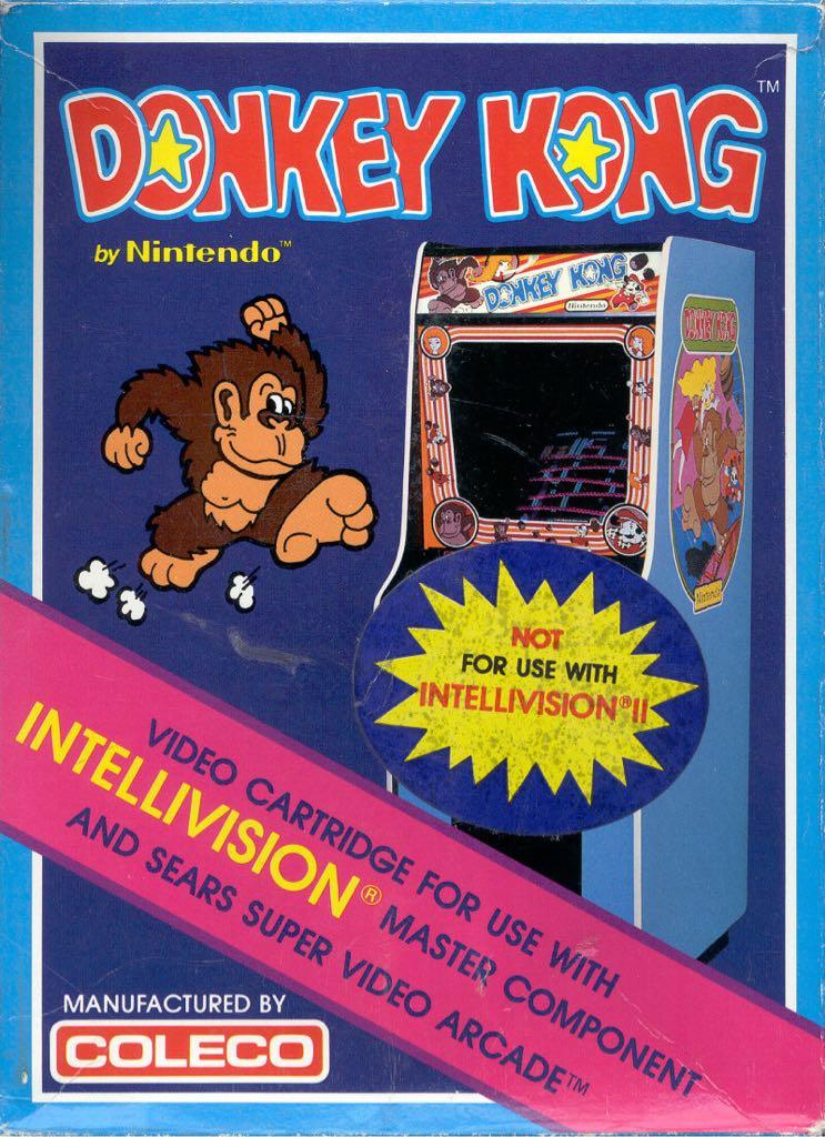 Donkey Kong - Intellivision cover