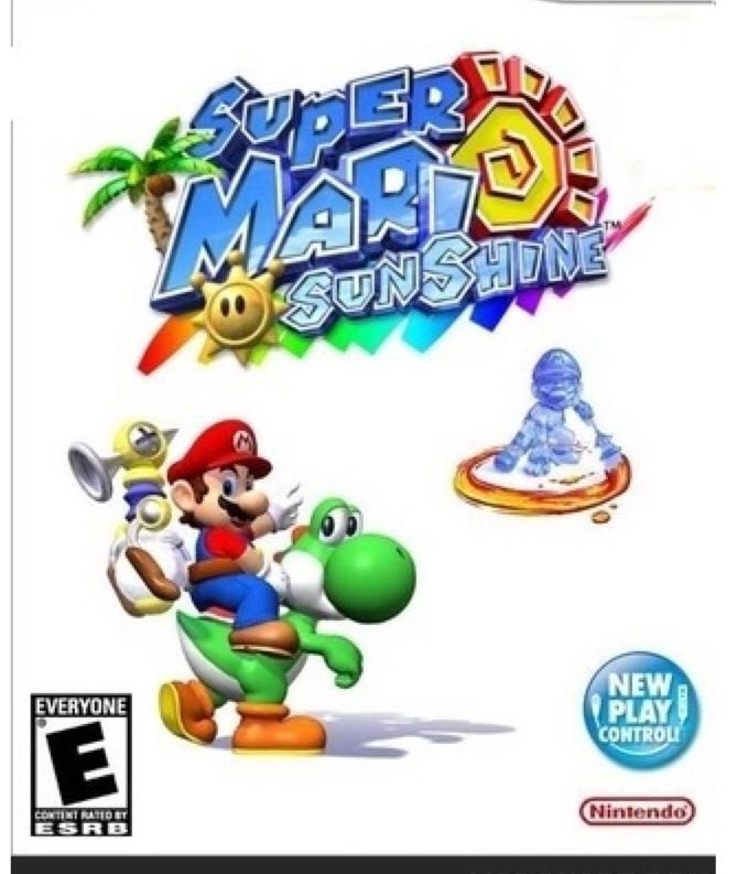 Super Mario Sunshine - Wii cover