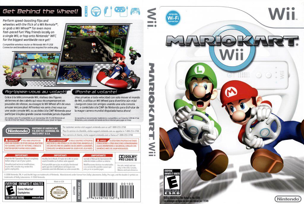 Mario Kart Wii - Switch cover