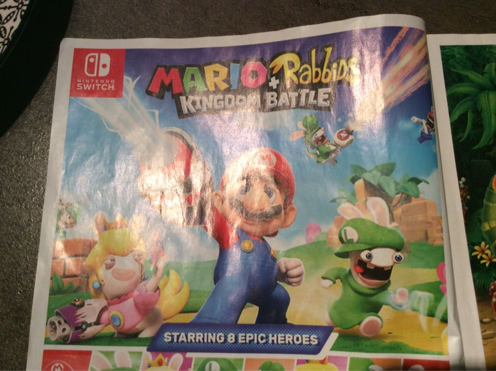 Rayman Raving Rabbids - Switch cover