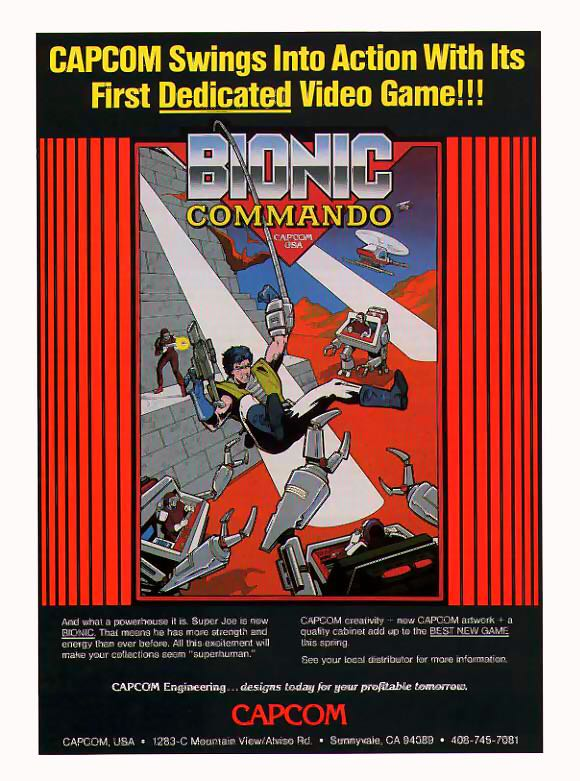 Bionic Commando - Arcade cover