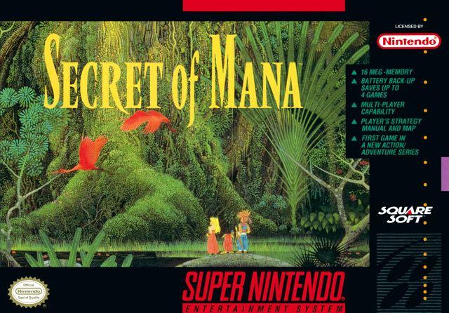 Secret of Mana - Super NES cover
