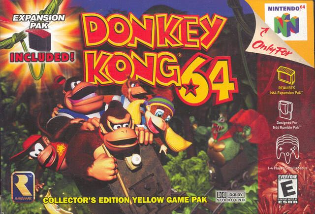 Donkey Kong - Nintendo 64 cover