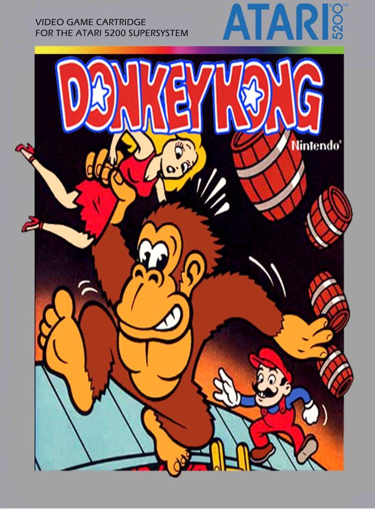 Donkey Kong - Atari 5200 cover