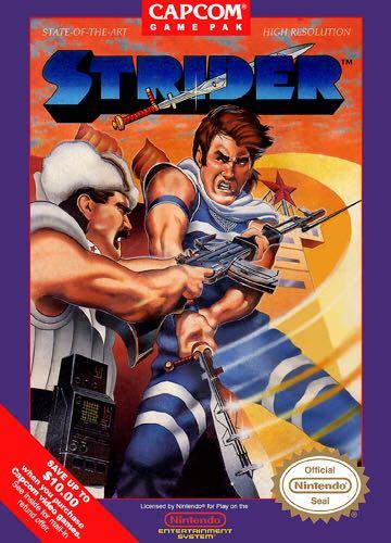 Strider - NES cover