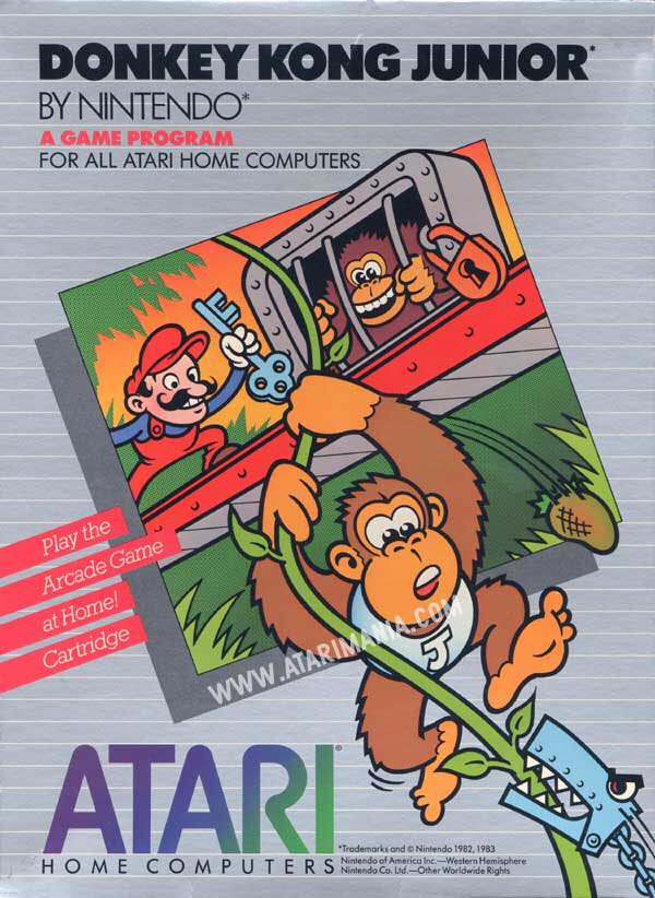 Donkey Kong Junior - Atari 400 cover