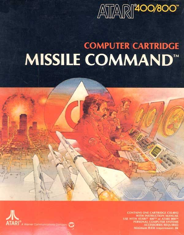 Missile Command - Atari 400 cover