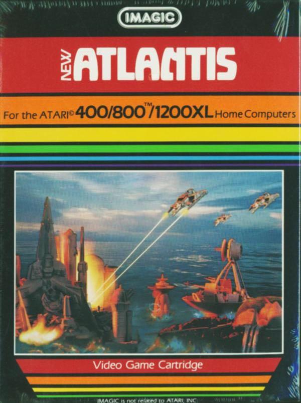 Atlantis - Atari 400 cover