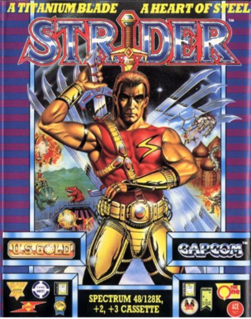 Strider - Sinclair ZX Spectrum cover