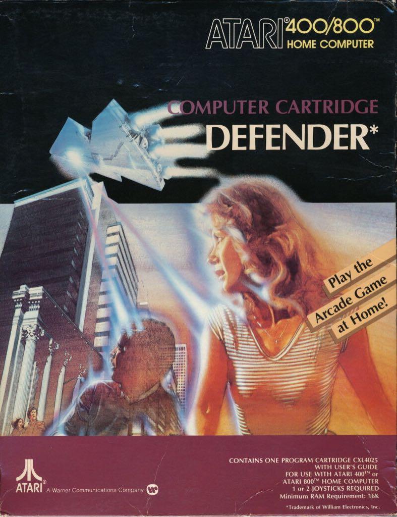 Defender  - Atari 800 cover