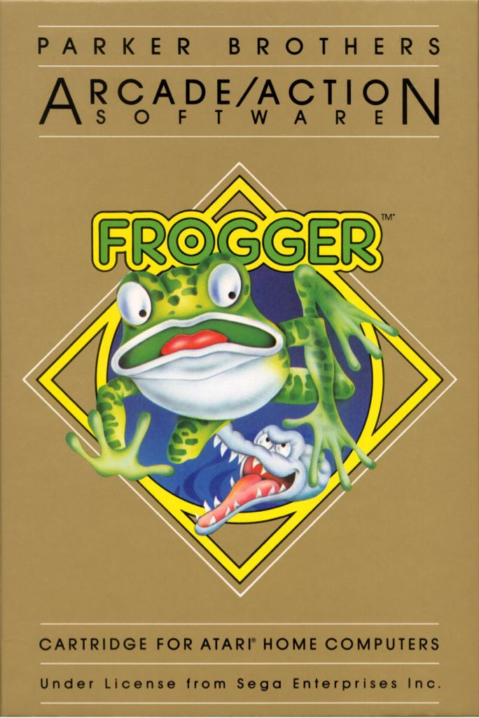 Frogger - Atari 800 cover
