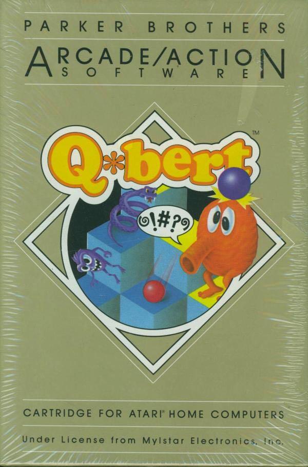 Q*bert - Atari 800 cover