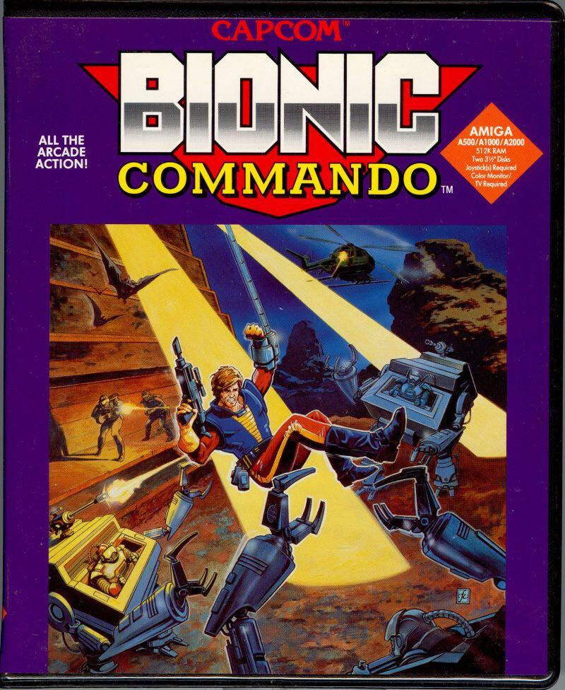 Bionic Commando - Commodore Amiga cover